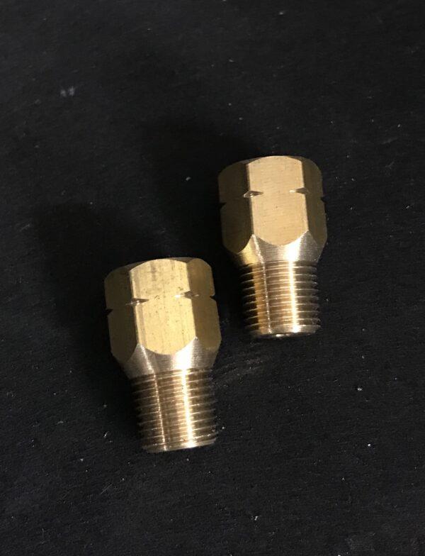 Optional 10x100m to 1/8 npt brake line adapters