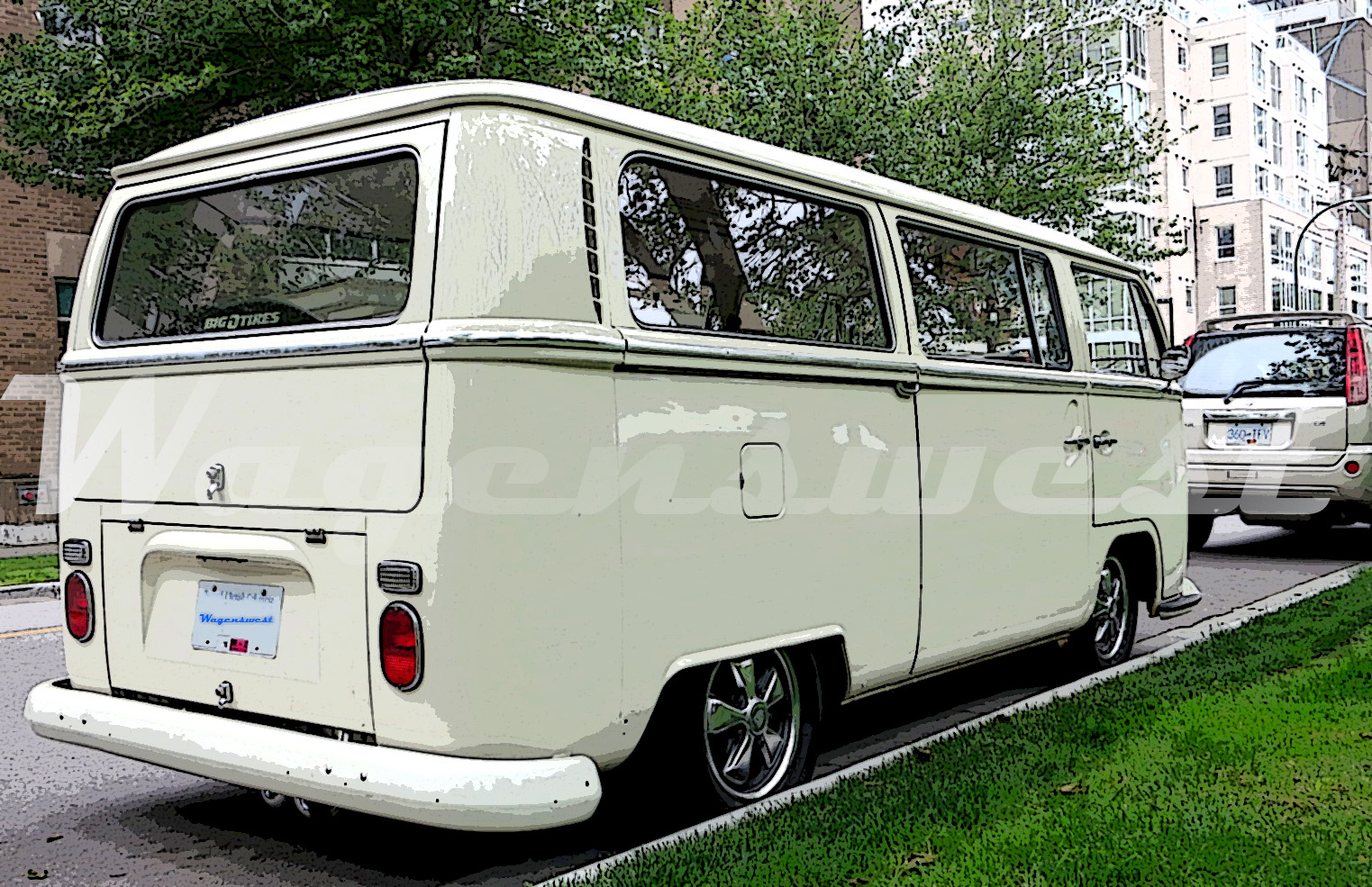 """Wagenswest 1968-79 Volkswagen bus lowering kit, the """"Slam Bay Special"""""""